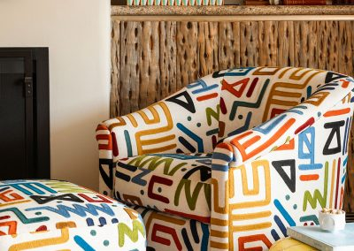 Fun Pattern Chair & Ottoman